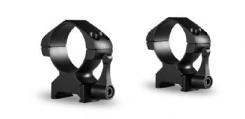 Hawke 30mm Steel Precision Weaver/Picatinny Rifle Scope Mount Rings - HIGH 23017